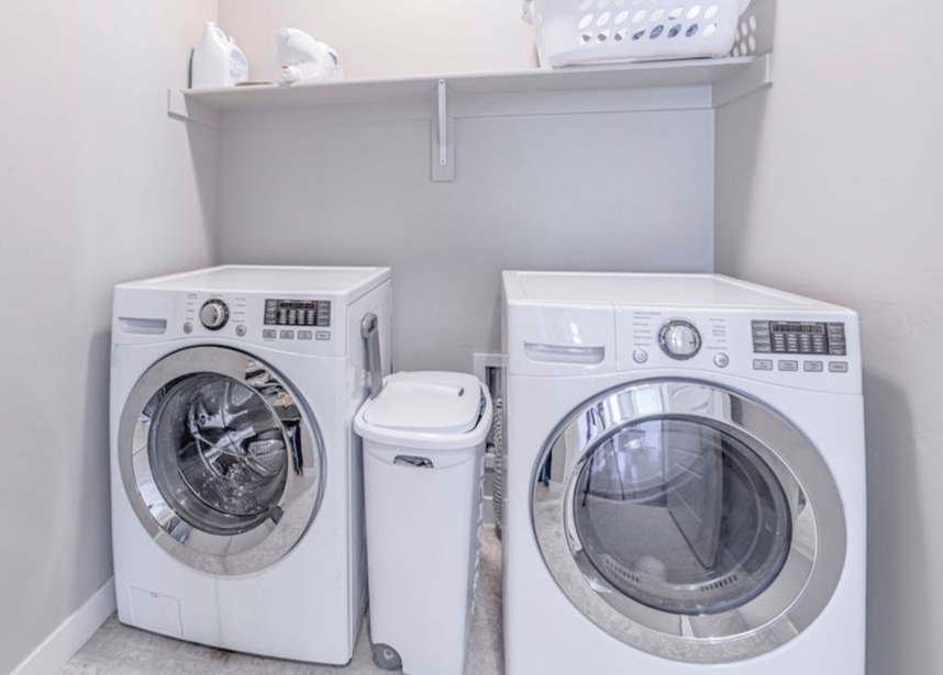 Washer and dryer in small laundry room