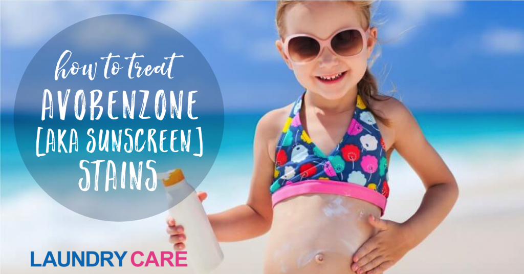 How to treat avobenzone sunscreen stains